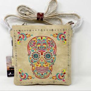 MONTANA WEST Sugar Skull Concealed Crossbody Bag